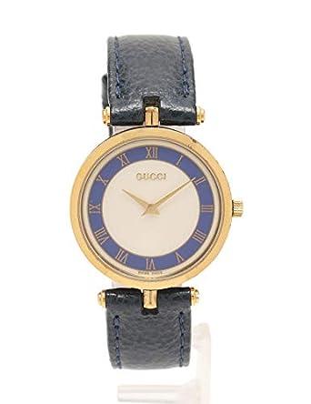 6ef82c2cbb1c Amazon   (グッチ) GUCCI シェリーライン レディース 腕時計 クオーツ SS レザー ゴールド 中古   GUCCI(グッチ)    腕時計 通販