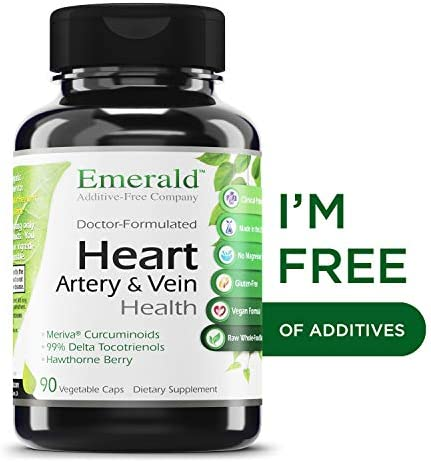 Heart, Artery Vein Health – with Hawthorn Berry Meriva Phytosome – High Absorption, Supports Cardiovascular Health, Helps Regulate Blood Pressure – Emerald Laboratories – 90 Vegetable Capsules