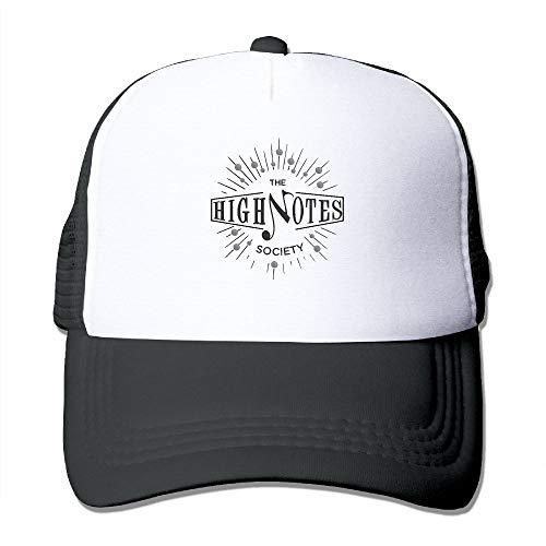 - High Notes Society Mesh Trucker Hats for Mens Womens Adult Adjustable Baseball Caps Outdoor Snapback
