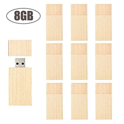 USB Flash Drive 2GB Flash Drive USB 2.0 TEWENE Wood Zip Thumb Jump Pen U Drive Memory Stick Data Picture Storage U Disk for Kids Android Phone iPhone Ipad Pc (5 Pack) from TEWENE