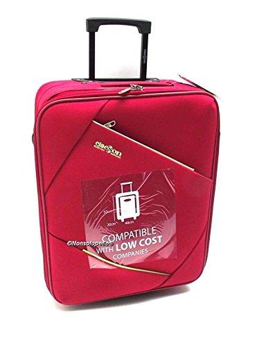 Trolley Easyjet idoneo cm,50x40x20 Trolley Bagaglio a Mano cabina ,Trolley Ryanair idoneo cm.55x40x20,Trolley Clacson misure effettive cm.49x39x19 (ROSSO)