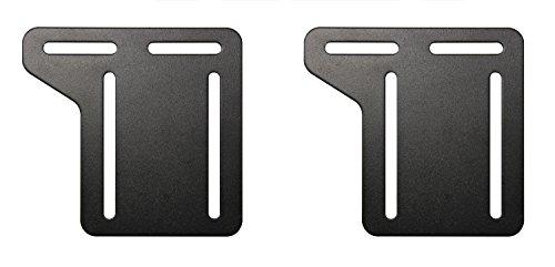 Footboard Kit (Kings Brand Full - Queen Bed Frame Headboard Bracket Modification Modi-Plate, Set of 2)