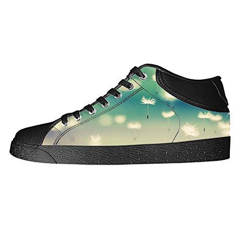 Shoes Lacci Dente Leone Le In Da Di Ginnastica Delle I Custom Tela Canvas Men's Scarpe Sopra Alto qXx0FdFBw
