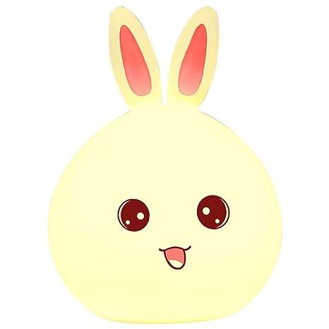 Ylsmn Moe Rabbit Lámpara De Silicona Conejo Colorido Niños