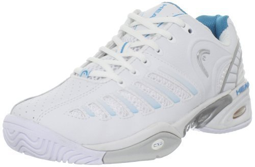 Head Women's Prestige Pro Tennis Shoe,White/Blue,6.5 M US by Head