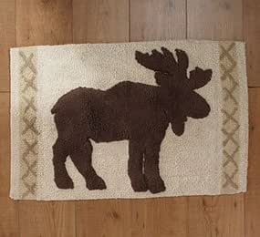Lodge Plush Moose Bath Rug