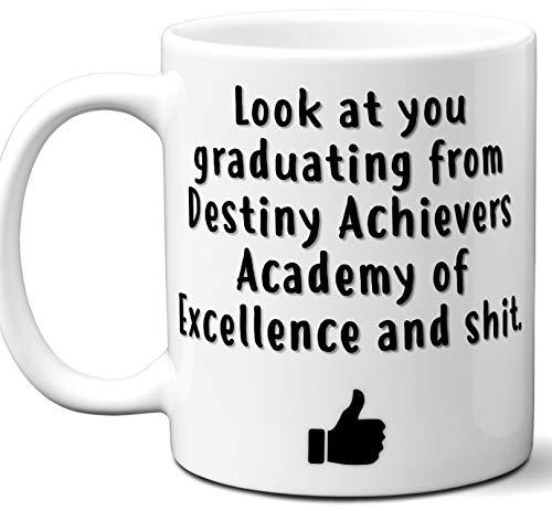 Destiny Achievers Academy of Excellence Graduation Gift. Cocoa, Coffee Mug Cup. Student High School Grad Idea Teen Graduates Boys Girls Him Her Class. Funny Congratulations. 11 ()
