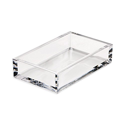 Caspari Acrylic Guest Towel Paper Napkin Holder, Clear, 1 Each