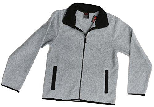 At The Buzzer 98502-HTR-10/12 Polar Fleece Boys Jacket - Solid