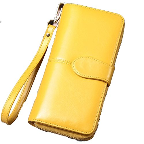 wax wallet student change wallet explosion mobile phone bag long clutch vintage card - Cleaner Devil Dirt Spot