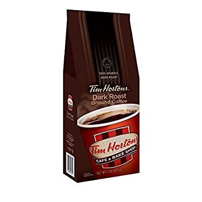 Tim Horton's 100% Arabica Dark Roast, Ground Coffee, 12 Ounce