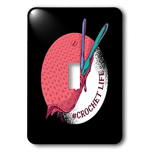 (3dRose Sven Herkenrath Hobby - Crochet Life with Circle Hobby Knitting - Light Switch Covers - single toggle switch (lsp_306926_1))
