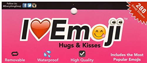 Emoji-Sticker-Pack-288-of-the-Most-Popular-Smiles-Hearts-Hugs-and-Kisses-Emoji-stickers-on-6-Pages-as-seen-on-the-iPhone-Twitter-Instagram-Facebook-and-more-Waterproof-and-Removable