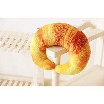 XIAOYING Shrimp Croissant Pepper U Shaped Neck Pillow Throw Pillow Cushion Plush Toy (Croissant )