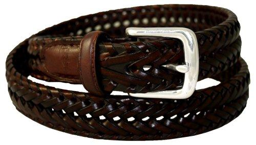 Woven Belt Classic - Dockers Men's Dockers 32mm Woven Leather Belt,Tan,44