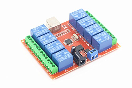 SMAKNÂ 12v 8 Channel USB Relay Module Programmable Computer Control