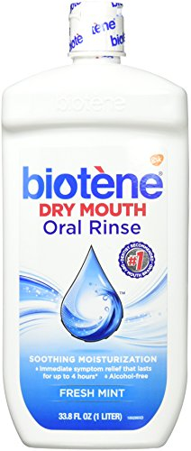- Biotene Fresh Mint Moisturizing Oral Rinse Mouthwash, Alcohol-Free, for Dry Mouth, 33.8 ounce