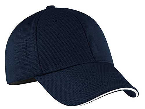 Nike Golf 333115 Adult's Dri-FIT Swoosh Flex Sandwich Cap Navy (Swoosh Flex Cap)