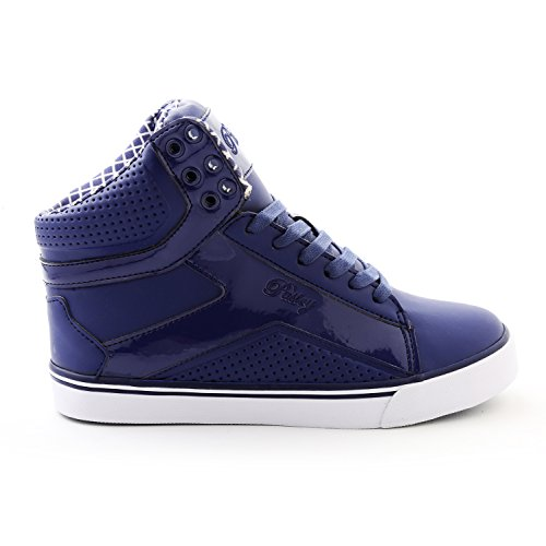 Pastry Pop Tart Grid Adult High-Top Sneaker & Dance Shoe with Glossy Accents Navy ()