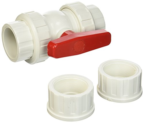 Hayward QTA1020CSEW 2-Inch White QTA Series True Union PVC Compact Ball Valve with EPDM O-Rings