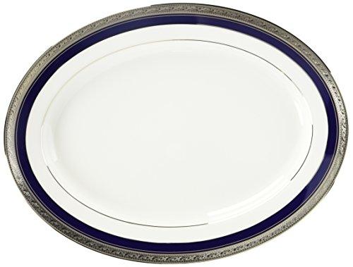 Crestwood Platinum (Noritake Crestwood Cobalt Platinum Oval Platter, 14-inches)