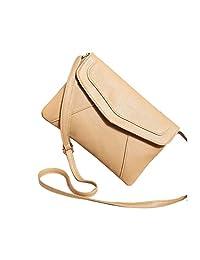 ShiningLove Summer Stylish PU Envelope Bag Shoulder Bag Casual Crossbody Bag Messenger Bag for Women