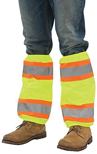 ERB Safety 61586 S487 Contrasting Trim Leg Gaiters Accessories, One Size, Hi-Viz Lime (Gaiters Footwear)