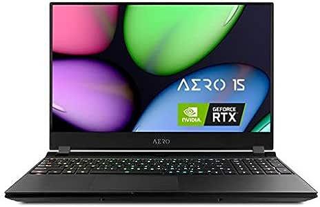 "[2020] Gigabyte AERO 15 YB-7US1430SH Thin and Light Gaming Laptop, 15.6"" Thin Bezel 144Hz FHD Panel, i7-10750H, NVIDIA GeForce RTX2080 Super Max-Q, 32GB RAM, M.2 PCIe 512GB SSD, Win 10 Home"