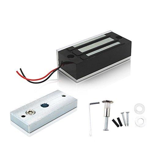 FUGEST Electric Magnetic Lock 60kg 130LBs Holding Force Electric Magnetic Lock for Door Access Control System Electromagnet Fail-Safe NC Mode