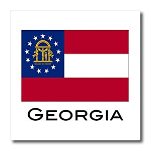 ht_107360_2 EvaDane - State Flags - Georgia State Flag - Iron on Heat Transfers - 6x6 Iron on Heat Transfer for White Material