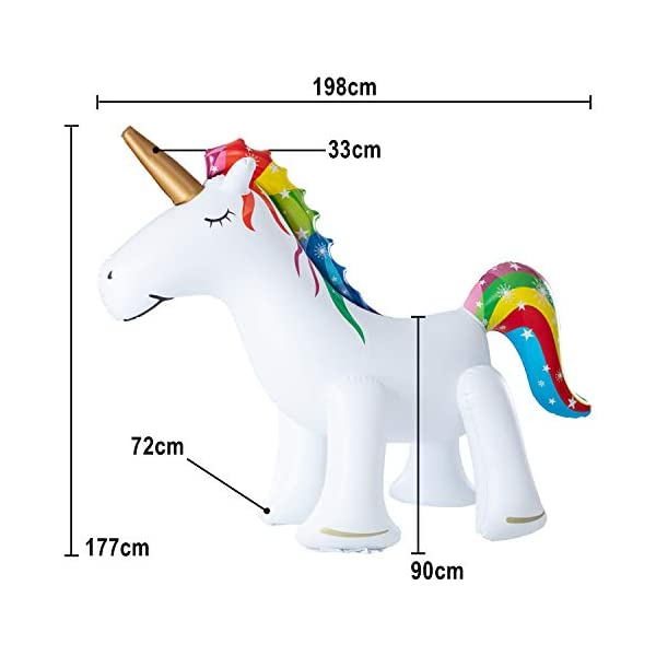 Leader Accessories Unicorn/ Elephant/ Crocodile Sprinkler Inflatable Water Toys (Unicorn Sprinkler 5.8ft) 6