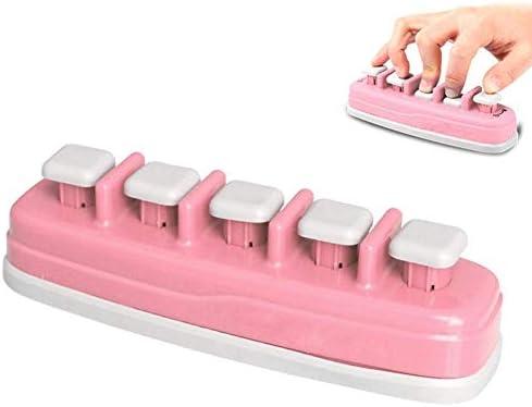 Entrenador de manos, guitarra, teclado, dedo, exercificador de agarre de mano, amplificador de silicona ergonómico para el entrenamiento de dedos de trigger artritis Therapy Grip escalada, Rosa.: Amazon.es: Instrumentos musicales