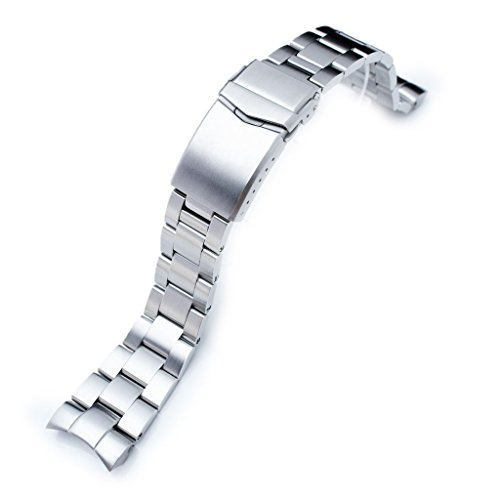 22mm Super Oyster 316L Stainless Steel Watch Bracelet for Orient Mako II & Ray II, V-Clasp