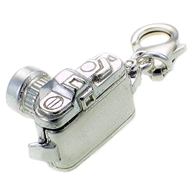 Welded Bliss Sterling 925 Silver SLR Opening Camera Charm Lobster Clip On Fit WBC1043 XTOhiXS