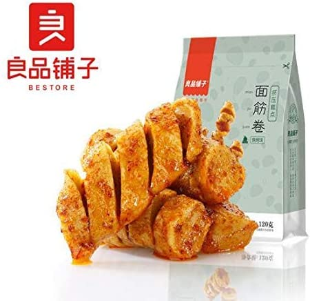 中国名物 おつまみ 大人気 良品铺子 面筋卷 烧烤味 120g
