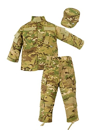 Trooper Clothing Combat 3 Piece Trooper Set w/10 Pockets, Large, Multi Color Camo, Large 14-16, by Trooper Clothing