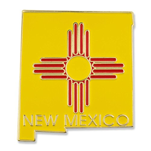 (PinMart State Shape of New Mexico and New Mexico Flag Lapel Pin)