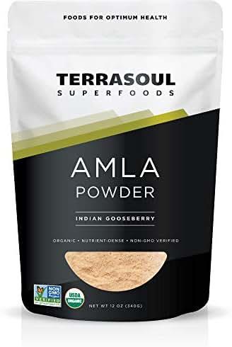 Terrasoul Superfoods Organic Amla Berry Powder (Amalaki), 12 Oz - Rich in Antioxidant Vitamin C | Supports Immunity