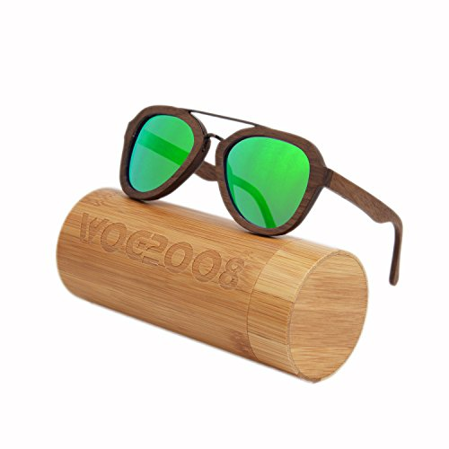 Wood bamboo sunglasses Polarized wooden wayfarer shades for Men & Women that floats in - Winter Sunglasses In