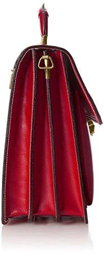 da Made Uomo CTM Italy in Vera 41x31x18cm Borsa Organizer 100 Rosso Pelle S1qqxRH