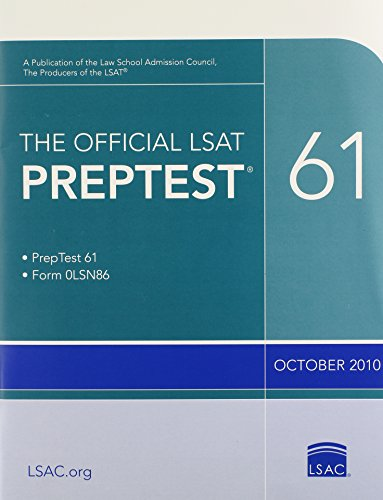 The Official LSAT PrepTest 61: (Oct. 2010 LSAT)