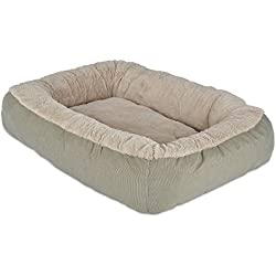 Precision Pet Bumper Pillow Bed, 26 by 22 by 7-Inch, Beige/Beige