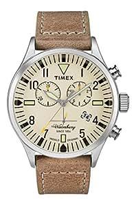1c530dd8c441 Timex Reloj Cronógrafo para Hombre de Cuarzo con Correa en Cuero TW2P84200   Amazon.es  Relojes