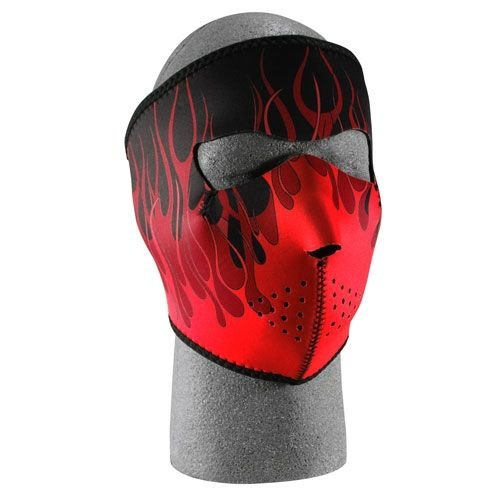 Fox Outdoor 72-655 Neoprene Thermal Face Mask Red Flames