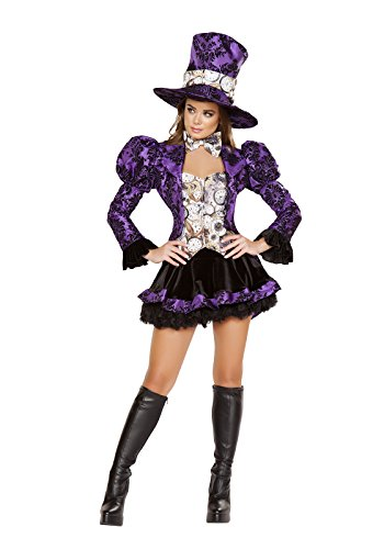 Women's Mad Hatter Costume Tea Party (Mad Hatter Costume For Little Girls)