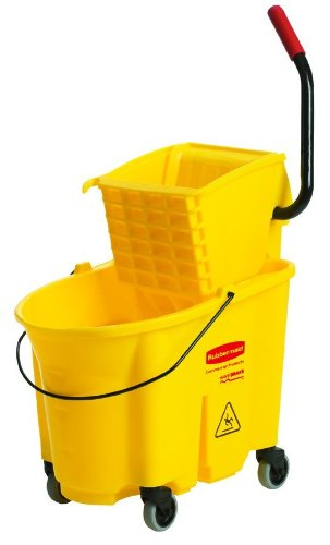 Rubbermaid Commercial 640-7580-88 Yellow Mopping Bucket And Wringer Combo Pack