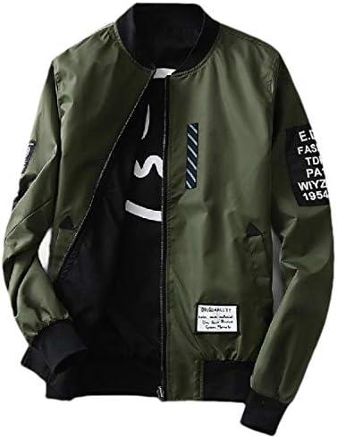 メンズカジュアルバリエーションリバーシブル印刷レターフライトジャケットコート