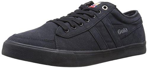 Gola Men's Comet Canvas Fashion Sneaker, Black,UK 8/US 9