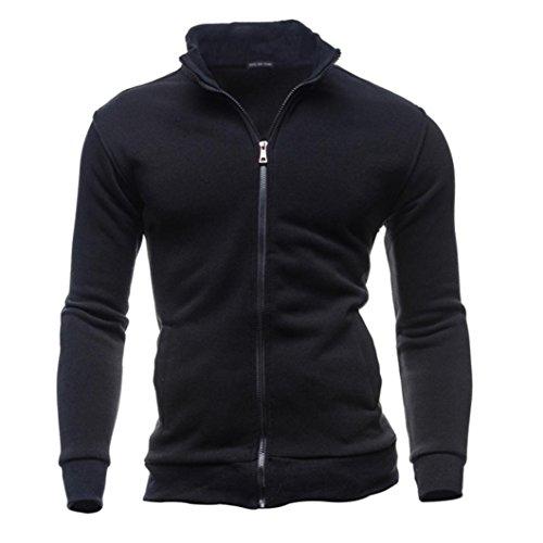 Men's Tracksuit Men Assassins Creed Hoodies,Kintaz Men's Autumn Winter Leisure Sports Turtleneck Zipper Sweatshirts Slim Tops Jacket Coat (Black, L(US -