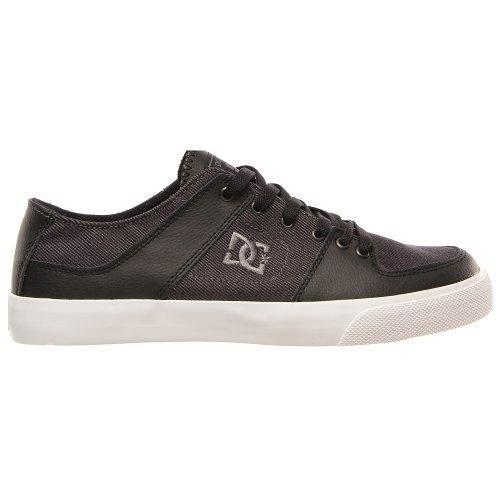 DC Men's Pure Zero Lace-Up Fashion Sneaker,Black/Pewter,9 M US